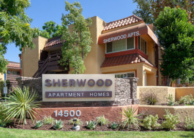 Sherwood Apartment Homes sign monument