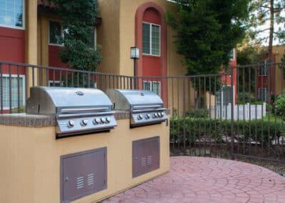 Bbq grills on apartments